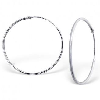 """Stříbrné náušnice kruhy """"Sonia"""". 1,2x40 Ag 925/1000"""